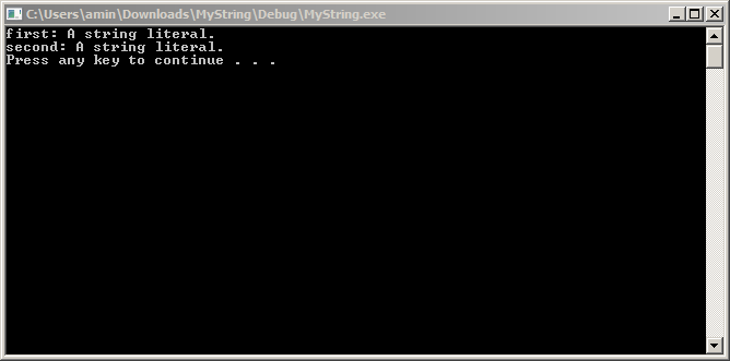 screenshot of program successfully running in a terminal